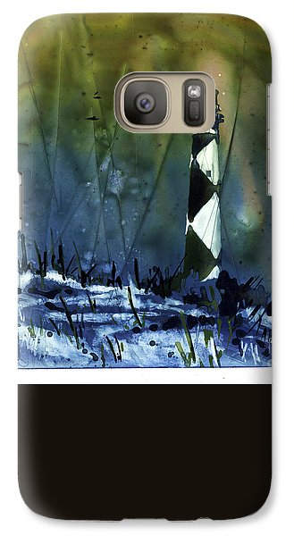 Galaxy Case featuring the mixed media Cape Lookout Lighthouse by Ryan Fox