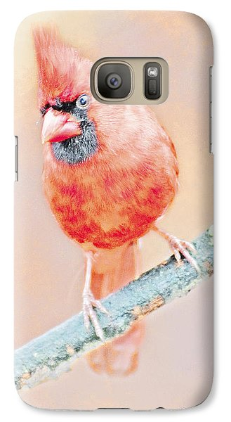 Galaxy Case featuring the photograph Cardinal Male by A Gurmankin