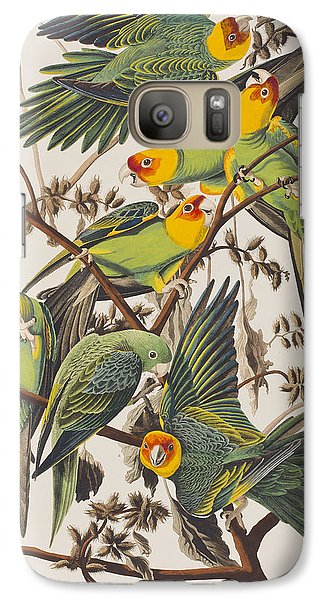 Carolina Parrot Galaxy S7 Case by John James Audubon