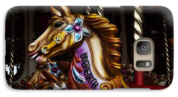 Galaxy Case featuring the photograph Carousel Horses by Steve Purnell
