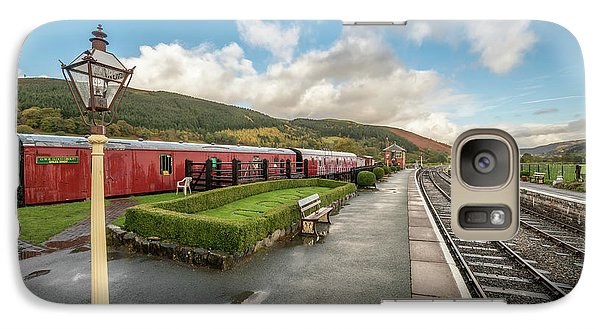 Galaxy Case featuring the photograph Carrog Railway Station by Adrian Evans