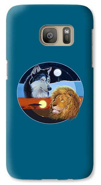 Galaxy Case featuring the mixed media Celestial Kings Circular by J L Meadows