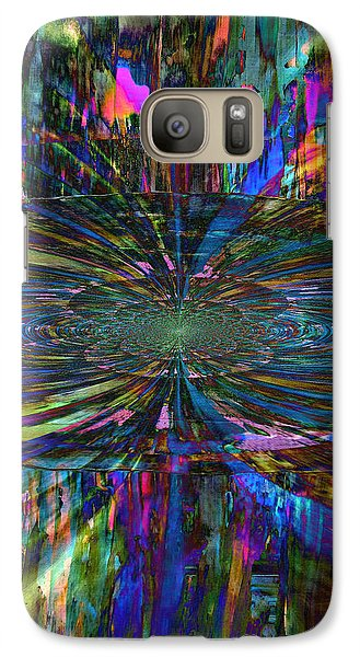 Galaxy Case featuring the painting Central Swirl by Kathy Sheeran