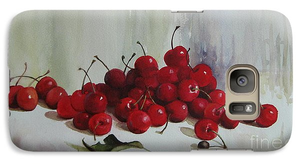 Galaxy Case featuring the painting Cherries by Elena Oleniuc
