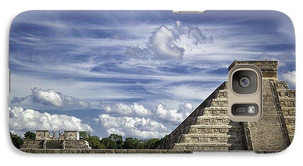 Galaxy Case featuring the photograph Chichen Itza, El Castillo Pyramid by Jason Moynihan
