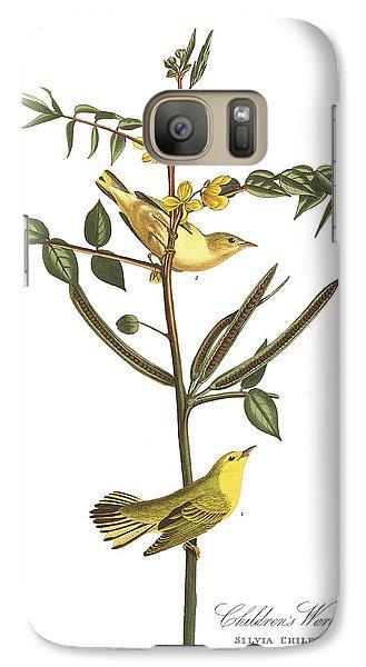 Children's Warbler Galaxy S7 Case by John James Audubon