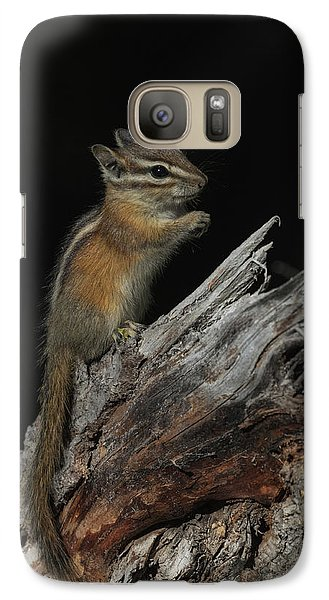 Galaxy Case featuring the photograph Chipmunk by Angie Vogel