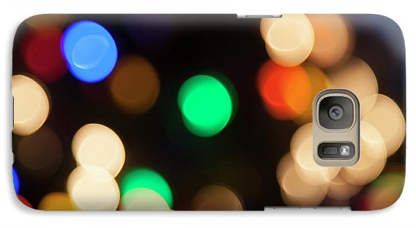 Galaxy Case featuring the photograph Christmas Lights by Susan Stone