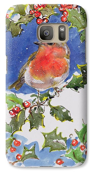 Christmas Robin Galaxy S7 Case