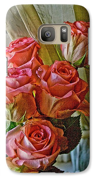 Galaxy Case featuring the photograph Cindy's Roses by Bonnie Willis