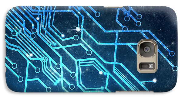 Circuit Board Technology Galaxy S7 Case by Setsiri Silapasuwanchai