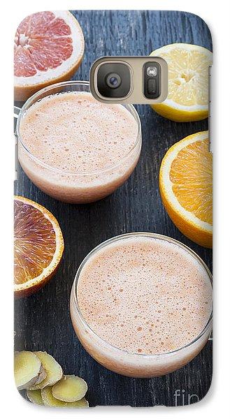 Citrus Smoothies Galaxy Case by Elena Elisseeva