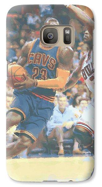 Cleveland Cavaliers Lebron James 2 Galaxy S7 Case by Joe Hamilton