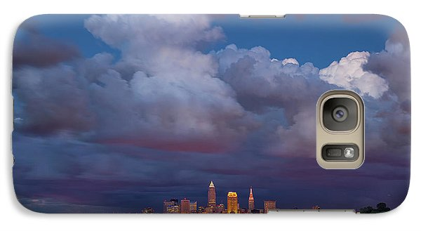 Galaxy Case featuring the photograph Cleveland Skyline  by Emmanuel Panagiotakis