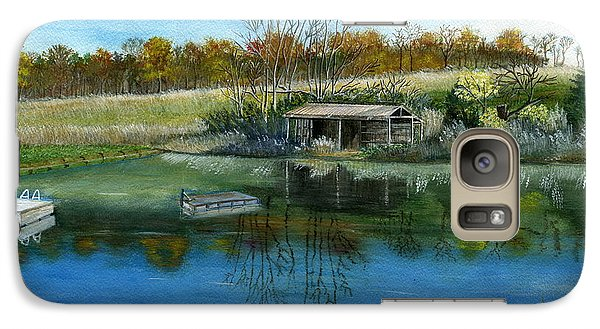 Galaxy Case featuring the painting Cole Hill Pond by Melly Terpening