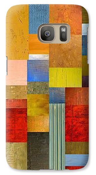 Color Panels With Green Grass Galaxy S7 Case