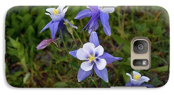 Galaxy Case featuring the photograph Colorado Columbine by Steve Stuller