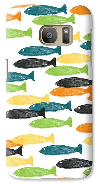 Colorful Fish  Galaxy Case by Linda Woods