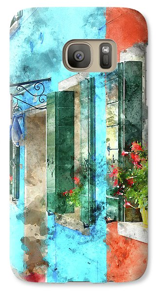 Colorful Houses In Burano Island Venice Italy Galaxy S7 Case