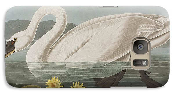 Common American Swan Galaxy S7 Case by John James Audubon