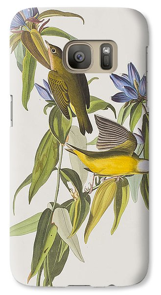 Warbler Galaxy S7 Case - Connecticut Warbler by John James Audubon