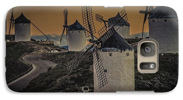 Galaxy Case featuring the photograph Consuegra Windmills 2 by Heiko Koehrer-Wagner