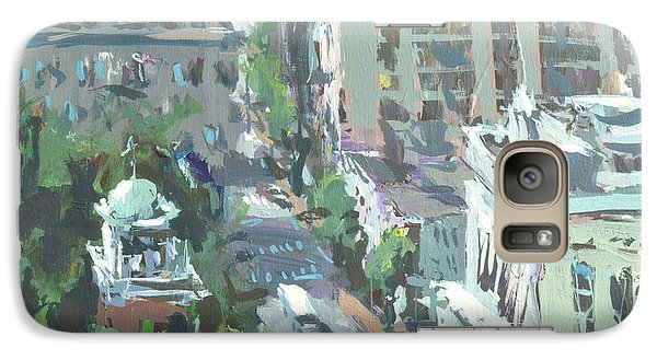 Galaxy Case featuring the painting Contemporary Richmond Virginia Cityscape Painting by Robert Joyner
