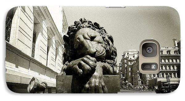 Galaxy Case featuring the photograph Corcoran Lion by Victoria Lakes