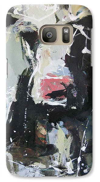 Galaxy Case featuring the painting Cow Portrait by Robert Joyner