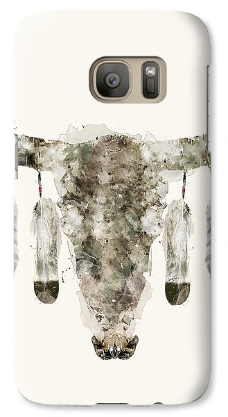 Galaxy Case featuring the painting Cow Skull by Bri B