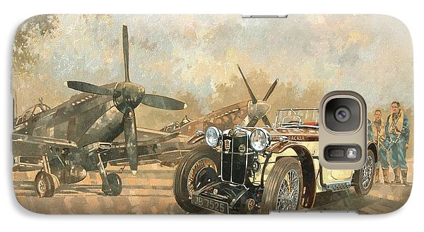 Cream Cracker Mg 4 Spitfires  Galaxy S7 Case by Peter Miller