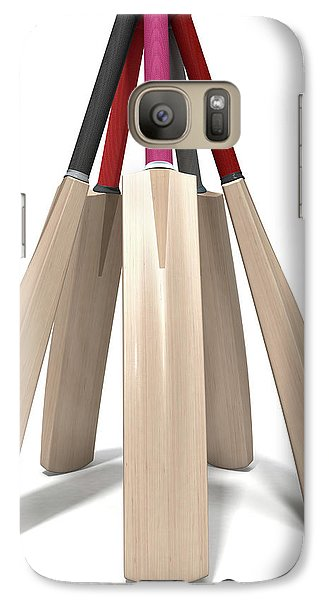 Cricket Bat Circle Galaxy S7 Case by Allan Swart