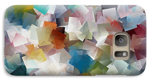 Galaxy Case featuring the painting Crystal Cube by Kathy Sheeran