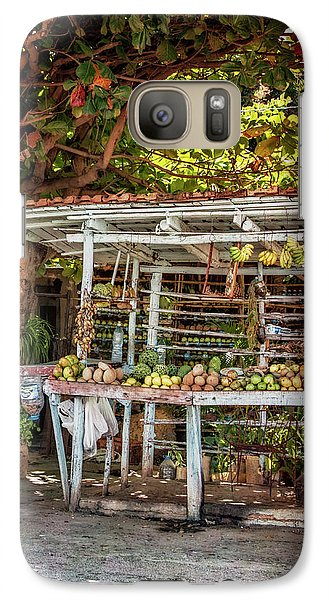 Galaxy Case featuring the photograph Cuban Fruit Stand by Joan Carroll