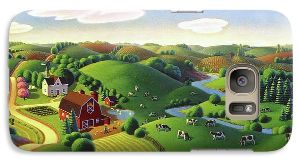 Galaxy Case featuring the painting Dairy Farm  by Robin Moline