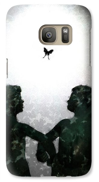 Galaxy Case featuring the digital art Dancing Silhouettes by Holly Ethan