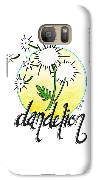 Galaxy Case featuring the drawing Dandelion by Cindy Garber Iverson