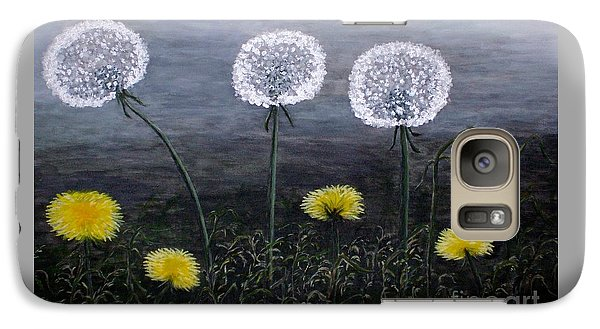 Galaxy Case featuring the painting Dandelion Family by Judy Kirouac