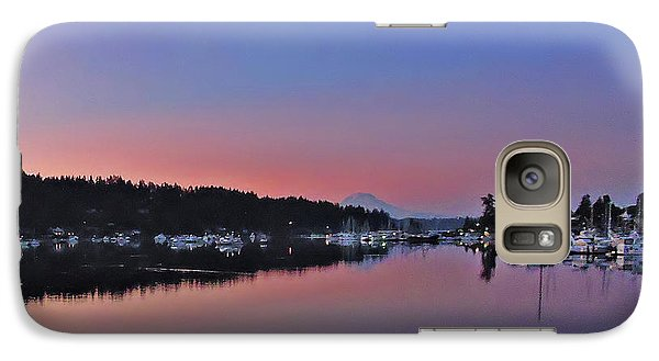Galaxy Case featuring the photograph Dawn At Gig Harbor by Jack Moskovita