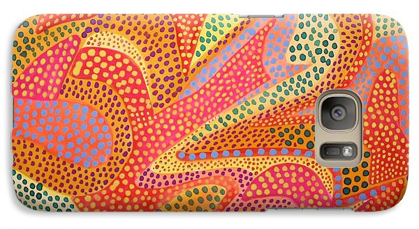 Galaxy Case featuring the painting Dazzling Dots by Polly Castor