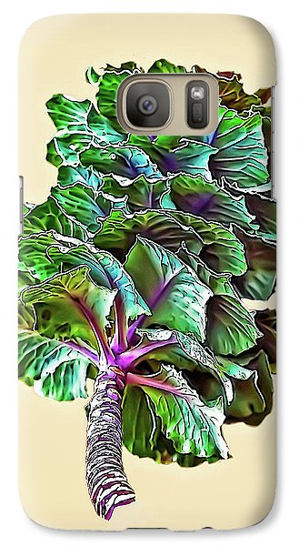 Galaxy Case featuring the photograph Decorative Cabbage by Walt Foegelle