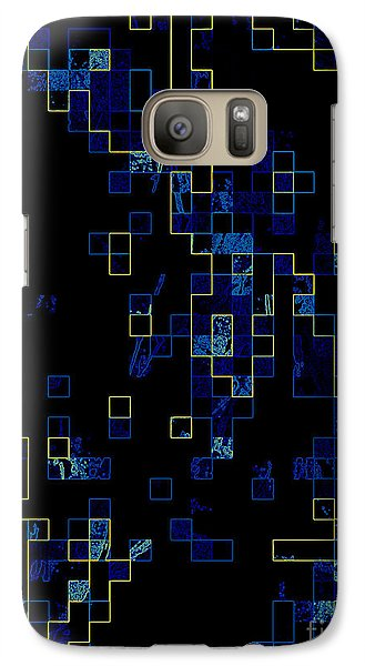 Galaxy Case featuring the mixed media Depth by Kristine Nora