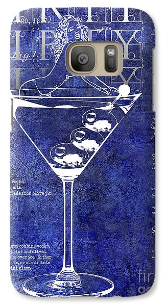Dirty Dirty Martini Patent Blue Galaxy S7 Case
