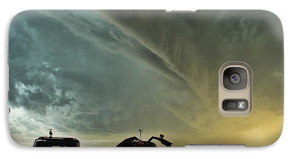 Galaxy Case featuring the photograph Dominating The Storm by Ryan Crouse