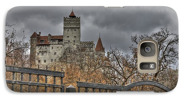 Galaxy Case featuring the photograph Dracula's Castle Transilvania In Hdr by Matthew Bamberg