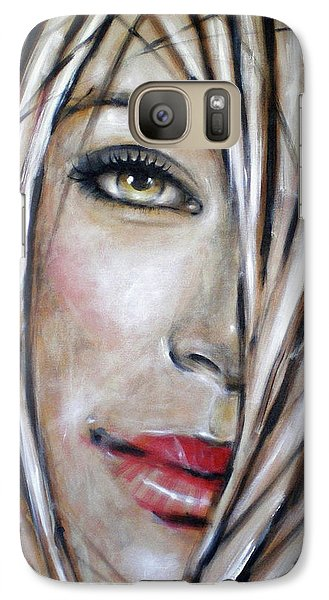 Galaxy Case featuring the painting Dream In Amber 120809 by Selena Boron