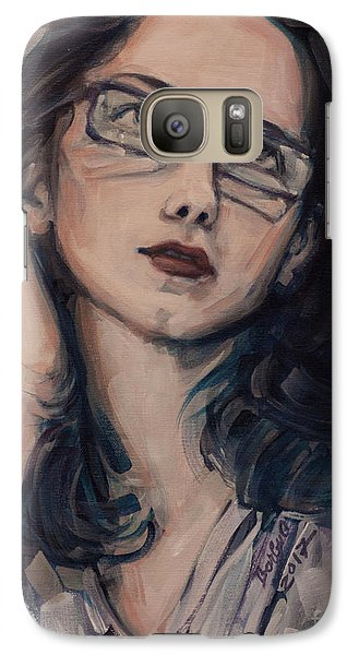 Galaxy Case featuring the painting Dreaming With Open Eyes by Olimpia - Hinamatsuri Barbu