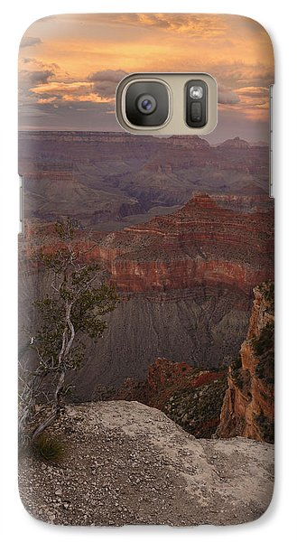 Galaxy Case featuring the photograph Dusk From Mather Point by Stephen  Vecchiotti