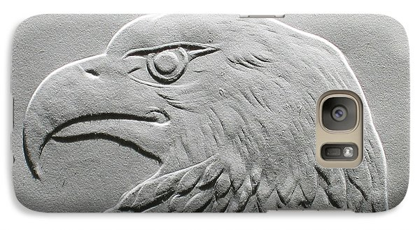 Galaxy Case featuring the relief Eagle Head Relief Drawing by Suhas Tavkar