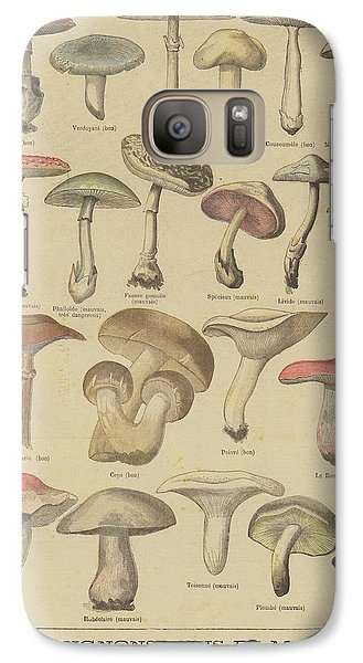 Edible And Poisonous Mushrooms Galaxy S7 Case